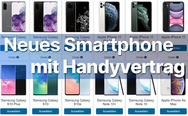 Handyshop: Smartphone mit Vertrag